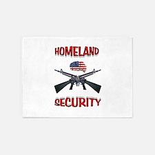 HOMELAND SECURITY 5'x7'Area Rug