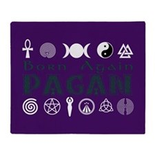 Born Again Pagan Throw Blanket