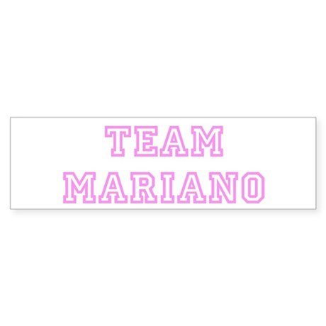 Pink team Mariano Bumper Sticker