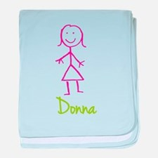 Donna-cute-stick-girl.png baby blanket