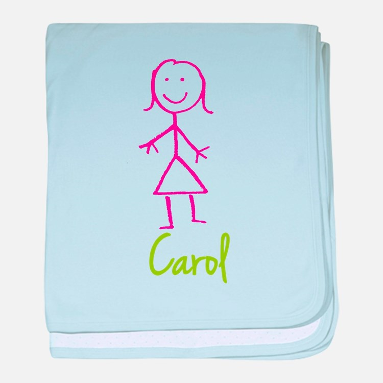 Carol-cute-stick-girl.png baby blanket