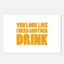 I Need Another Drink Postcards (Package of 8)