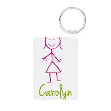 Carolyn-cute-stick-girl.png Aluminum Photo Keychai