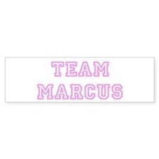 Pink team Marcus Bumper Bumper Sticker