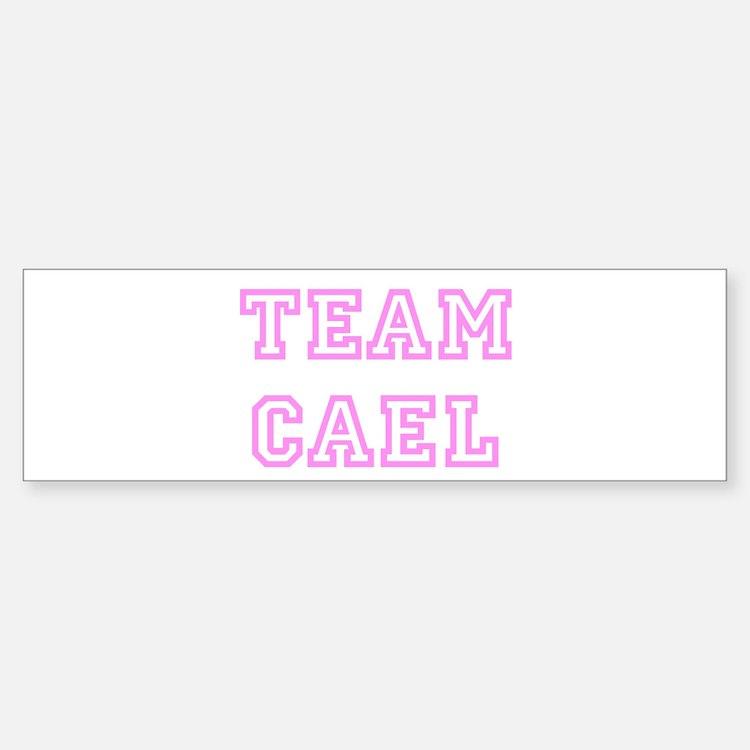 Pink team Cael Bumper Bumper Bumper Sticker