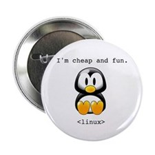 "Linux - Cheap and Fun 2.25"" Button (10 pack)"