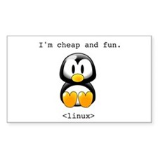 Linux - Cheap and Fun Rectangle Decal