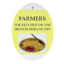 farmer Ornament (Oval)
