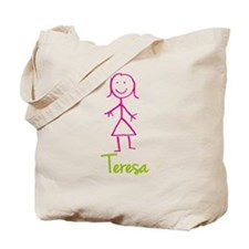Teresa-cute-stick-girl.png Tote Bag