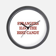 Strangers Have The Best Candy Wall Clock