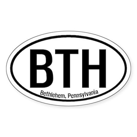 Bethlehem, Pennsylvania Oval Sticker