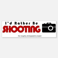Id rather be shooting Bumper Bumper Sticker