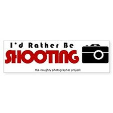 Id rather be shooting Car Sticker