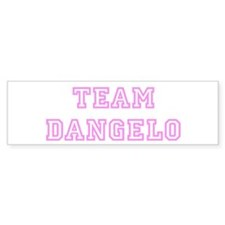 Pink team Dangelo Bumper Bumper Sticker
