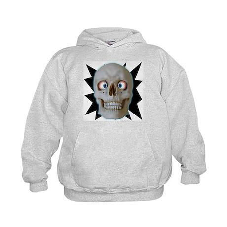 Halloween Cross-Eyed Skull Kids Hoodie
