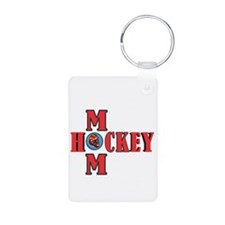 HOCKEY MOM Keychains
