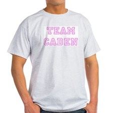 Pink team Caden Ash Grey T-Shirt