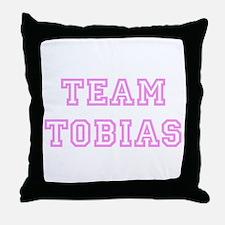 Pink team Tobias Throw Pillow