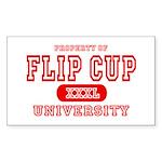 Flip Cup University Rectangle Sticker