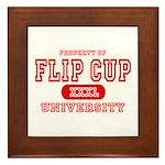 Flip Cup University Framed Tile