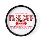 Flip Cup University Wall Clock
