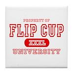 Flip Cup University Tile Coaster