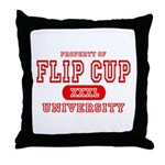 Flip Cup University Throw Pillow