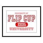 Flip Cup University Large Framed Print