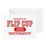 Flip Cup University Greeting Cards (Pk of 10)