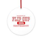 Flip Cup University Ornament (Round)