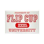 Flip Cup University Rectangle Magnet
