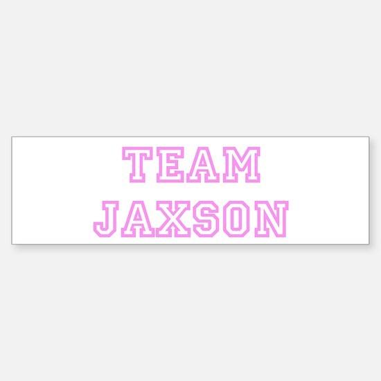 Pink team Jaxson Bumper Bumper Bumper Sticker