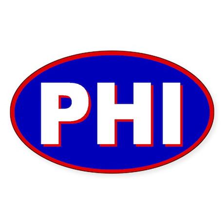 Philadelphia, Pennsylvania Oval Sticker