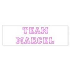 Pink team Marcel Bumper Bumper Sticker