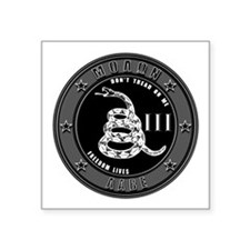 "Don't Tread On Me 3"" x 3"" Square Sticker"