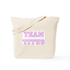 Pink team Titus Tote Bag