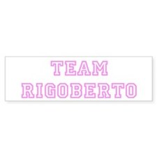 Pink team Rigoberto Bumper Car Sticker