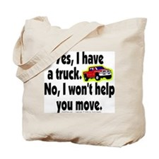 Yes/No Truck. Tote Bag