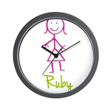 Ruby-cute-stick-girl.png Wall Clock