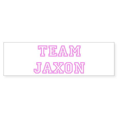 Pink team Jaxon Bumper Sticker