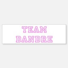 Pink team Dandre Bumper Bumper Bumper Sticker