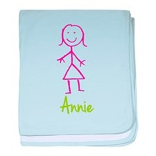Annie-cute-stick-girl.png baby blanket