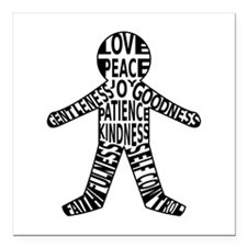 """Fruits of the spirit Square Car Magnet 3"""" x 3"""""""