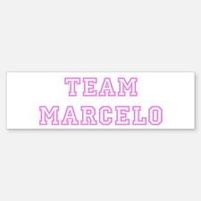 Pink team Marcelo Bumper Bumper Bumper Sticker