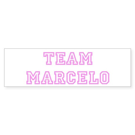 Pink team Marcelo Bumper Sticker