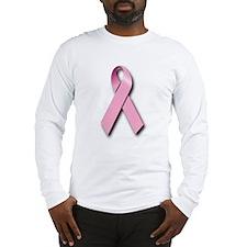 Pink Ribbon (front & back) Long Sleeve T-Shirt