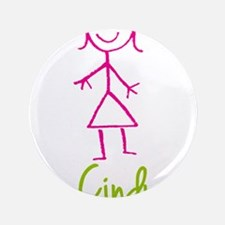 """Cindy-cute-stick-girl.png 3.5"""" Button"""