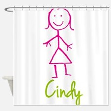 Cindy-cute-stick-girl.png Shower Curtain