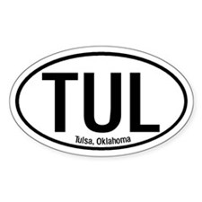 Tulsa, Oklahoma Oval Decal