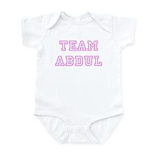 Pink team Abdul Infant Bodysuit